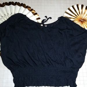 Free People Lace Back Tie Top Size S